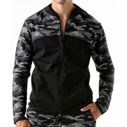 Kleidung Herren Sweatshirts Code 22 Sportjacke Urban Camo Code22 Schokolade