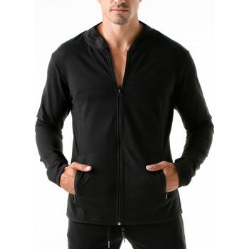 Kleidung Herren Sweatshirts Code 22 Sportjacke Urban Camo Code22 Perlschwarz