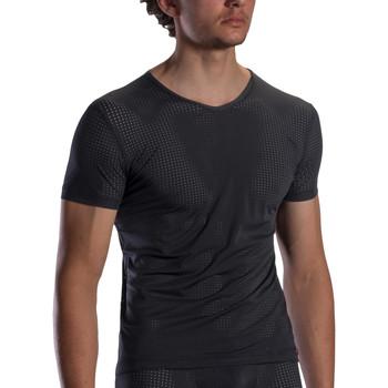 Kleidung Herren T-Shirts Olaf Benz T-Shirt mit V-Ausschnitt RED1871 Perlschwarz