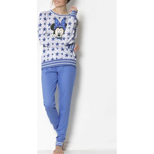 Admas Minnie Stars Disney Blaue Pyjama Loungewear Blau Kleidung Pyjamas Nachthemden Damen 59 50