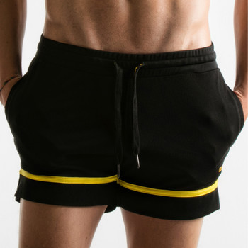 Kleidung Herren Shorts / Bermudas Code 22 Kurze Lochblende Perlschwarz