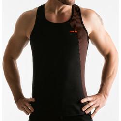 Kleidung Herren Tops Code 22 Kiefer-Streifen-Tanktop- Perlschwarz