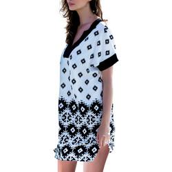 Kleidung Damen Kurze Kleider Admas Strandkleid-Surfen Weiß