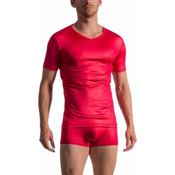 Kleidung Herren T-Shirts Olaf Benz Kurzärmeliges T-Shirt mit V-Ausschnitt RED 1763 Sand