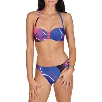 Kleidung Damen Bikini Lisca Alanya  2-teiliges Stirnband-Set Violett/orange