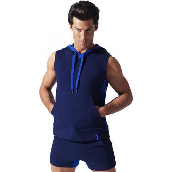 Kleidung Herren Tops Code 22 Sweet Hoody Sleeveless Sport Code22 Blau