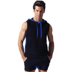 Kleidung Herren Tops Code 22 Sweet Hoody Sleeveless Sport Code22 Perlschwarz