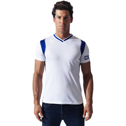 Kleidung Herren T-Shirts Code 22 T-shirt Contrast sport Code22 Weiß