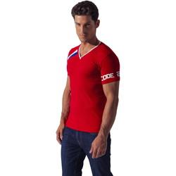 Kleidung Herren T-Shirts Code 22 Asymmetrisches Sport-Shirt Code22 Sand