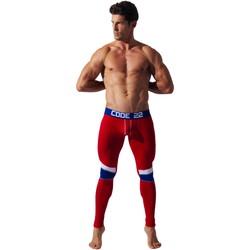 Kleidung Herren Leggings Code 22 Doppelfalz-Leggings Long John Code22 Sand