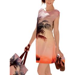 Kleidung Damen Kurze Kleider Lisca Strandkleid Copacabana Hautange