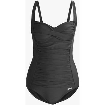 Kleidung Damen Badeanzug Lascana Schlankmachender Badeanzug 1 Stück TK-5 schwarze Körbchen B Perlschwarz