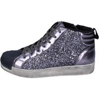 Schuhe Mädchen Sneaker High Holalà sneakers glitter grau