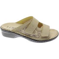 Schuhe Damen Pantoffel Calzaturificio Loren LOM2714be marrone