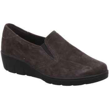 Schuhe Damen Slipper Semler Slipper SAMT-CHEVRO J7025042/007 pepper grau