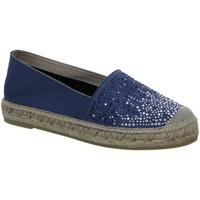 Schuhe Damen Leinen-Pantoletten mit gefloch Vidorreta Slipper NV 00826-1 blau