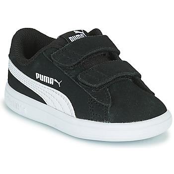 Schuhe Kinder Sneaker Low Puma SMASH INF Schwarz