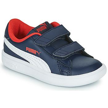 Schuhe Jungen Sneaker Low Puma SMASH Marine