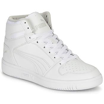 Schuhe Kinder Sneaker High Puma REBOUND LAYUP B Weiss
