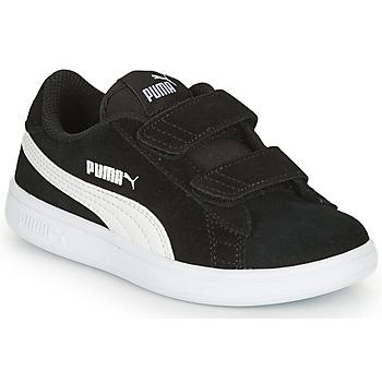 Schuhe Kinder Sneaker Low Puma SMASH Schwarz
