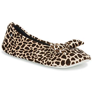 Schuhe Damen Hausschuhe Isotoner 95991 Braun