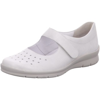 Schuhe Damen Slip on Semler Slipper METALL-NAPPA X2075019/011 weiß