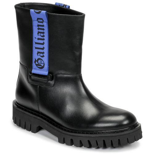 John Galliano 8560 Schwarz   Blau - Kostenloser Versand       - Schuhe Stiefel Herren 385
