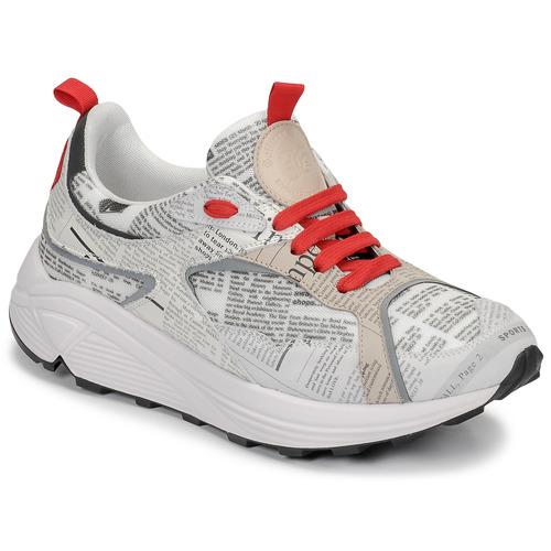 Schuhe Herren Sneaker Low John Galliano 8516 Grau