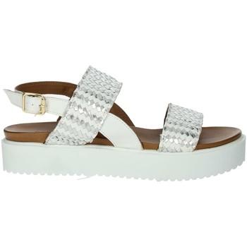 Schuhe Damen Sandalen / Sandaletten Donna Style 19-537 Weiss
