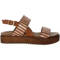 Schuhe Damen Sandalen / Sandaletten Donna Style 19-537 Braun Leder
