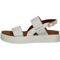 Schuhe Damen Sandalen / Sandaletten Donna Style 19-537 SILVER