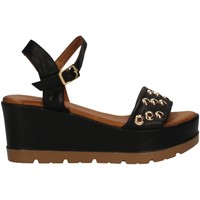 Schuhe Damen Sandalen / Sandaletten Donna Style 19-5008-P BLACK