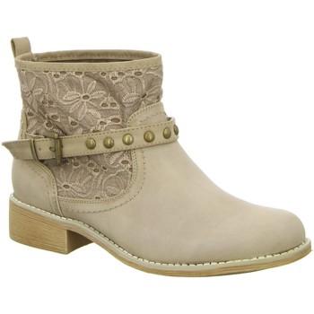 Schuhe Damen Low Boots Diverse Stiefeletten M+M P1 18009148 FOB 18009148-1 beige