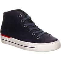 Schuhe Damen Sneaker High Paul Green Schnuerschuhe 4735-045 blau