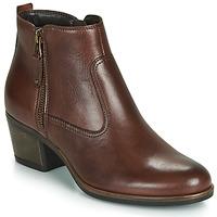 Schuhe Damen Boots André MADRID Braun