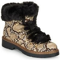 Schuhe Damen Low Boots André TABULAE Braun / Weiss