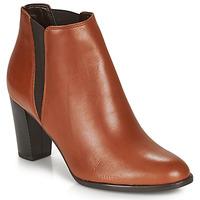 Schuhe Damen Low Boots André ELONA Cognac