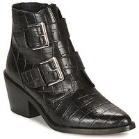 Schuhe Damen Low Boots André NAPOLITA Schwarz