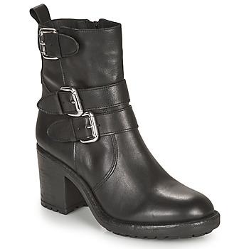 Schuhe Damen Boots André NASHUA Schwarz