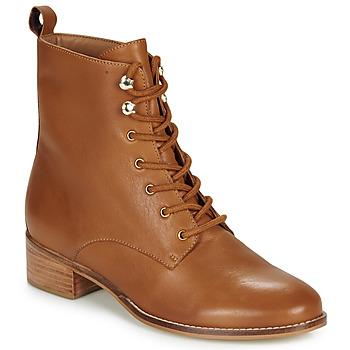Schuhe Damen Boots André ELOGE Camel