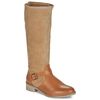 Schuhe Damen Klassische Stiefel André ELIA Camel