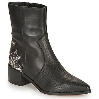 Schuhe Damen Low Boots André LA ROCKABILLY Schwarz