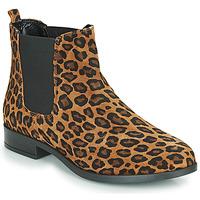 Schuhe Damen Boots André ELEGANTE Leopard