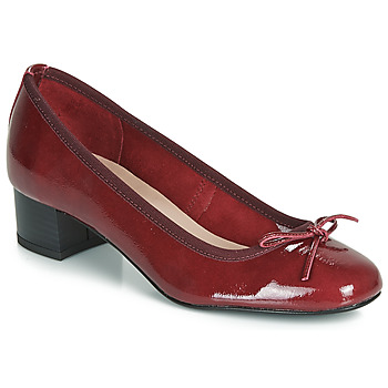 Schuhe Damen Ballerinas André POEME Rot
