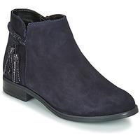 Schuhe Damen Boots André MILOU Marine