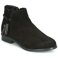 Schuhe Damen Boots André MILOU Schwarz