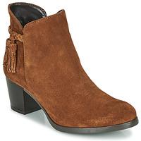Schuhe Damen Low Boots André MARYLOU Cognac