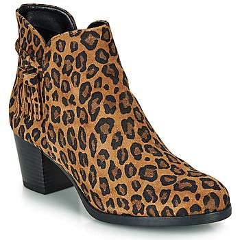 Schuhe Damen Low Boots André MARYLOU Leopard