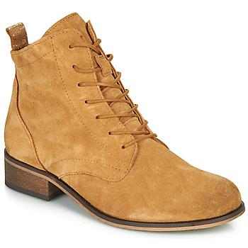 Schuhe Damen Boots André GODILLOT Ocker