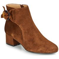 Schuhe Damen Low Boots André LOUISON Cognac